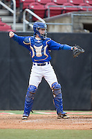Chase Barbary (7) of Powdersville High School in Greenville, South Carolina playing for the New York Mets scout team at the South Atlantic Border Battle at Doak Field on November 1, 2014.  (Brian Westerholt/Four Seam Images)