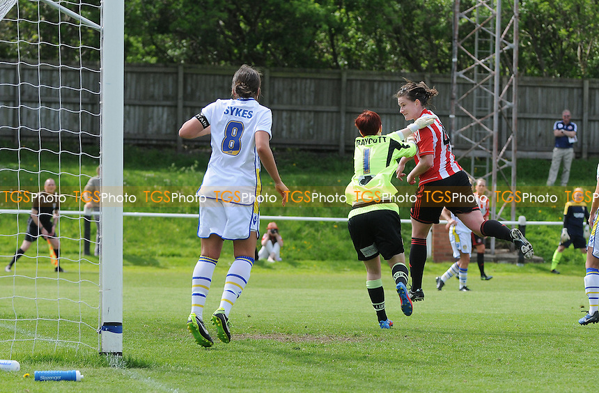 Sunderland defender Sarah McFadden scores Sunderlands third - Sunderland Women vs Leeds United Ladies - FA Womens Premier League Football at the Hetton Centre - 26/05/13 - MANDATORY CREDIT: Steven White/TGSPHOTO - Self billing applies where appropriate - 0845 094 6026 - contact@tgsphoto.co.uk - NO UNPAID USE.