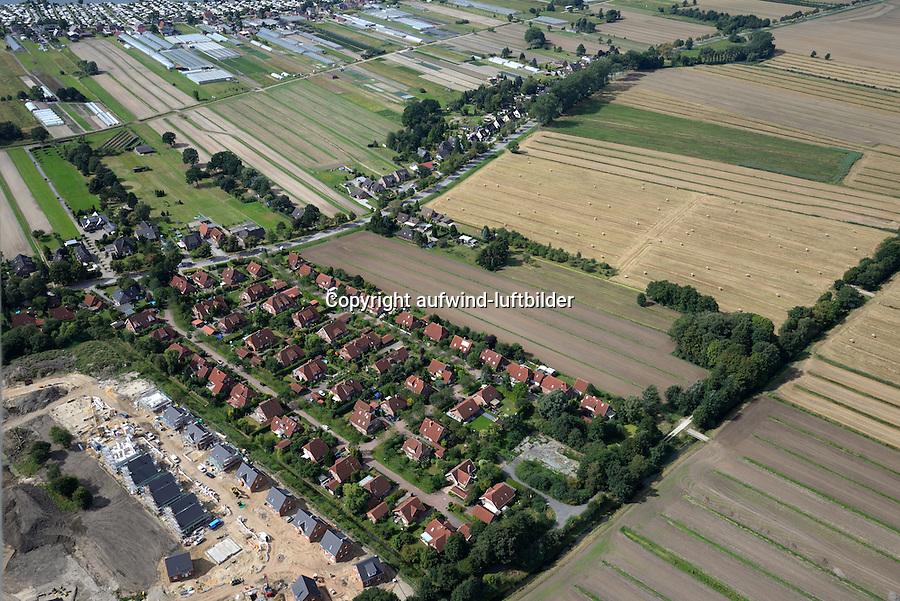 Westlich Homannring, geplantes Wohngebiet auf Ausgleichflaeche: EUROPA, DEUTSCHLAND, HAMBURG, (EUROPE, GERMANY), 02.09.2016: Fuenfhausen Baugelaende, Westlich Homannring, geplantes Wohngebiet auf Ausgleichflaeche