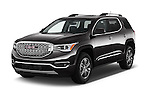 2017 GMC Acadia Denali 5 Door SUV Angular Front stock photos of front three quarter view