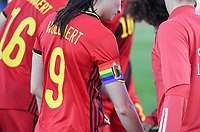 20200304  Parchal , Portugal : Belgian Tessa Wullaert (9) pictured during the female football game between the national teams of New Zealand , known as the Football Ferns and Belgium called the Red Flames on the first matchday of the Algarve Cup 2020 , a prestigious friendly womensoccer tournament in Portugal , on wednesday 4 th March 2020 in Parchal , Portugal . PHOTO SPORTPIX.BE   DAVID CATRY