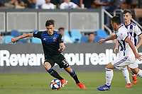 SAN JOSE, CA - JULY 16: Paul Marie #33 of the San Jose Earthquakes during a friendly match between the San Jose Earthquakes and Real Valladolid on July 16, 2019 at Avaya Stadium in San Jose, California.