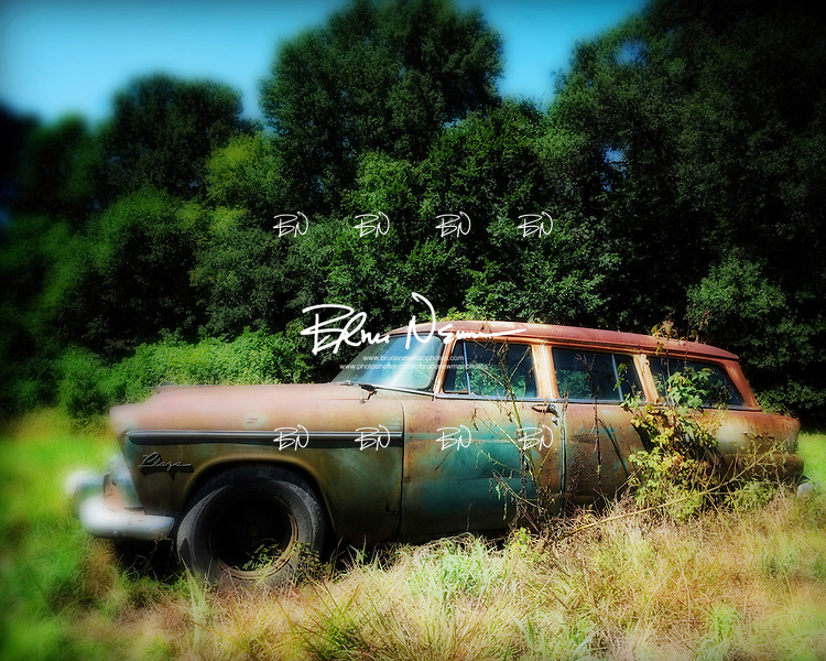 Old car near Batesville, Miss. on August 8, 2008.