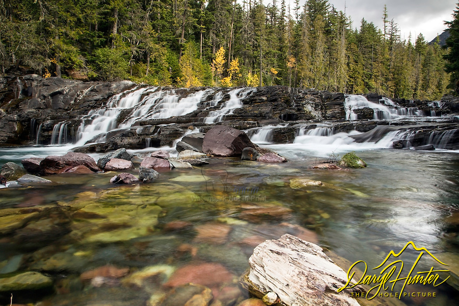 Waterfall, McDonald Creek, Glacier National Park