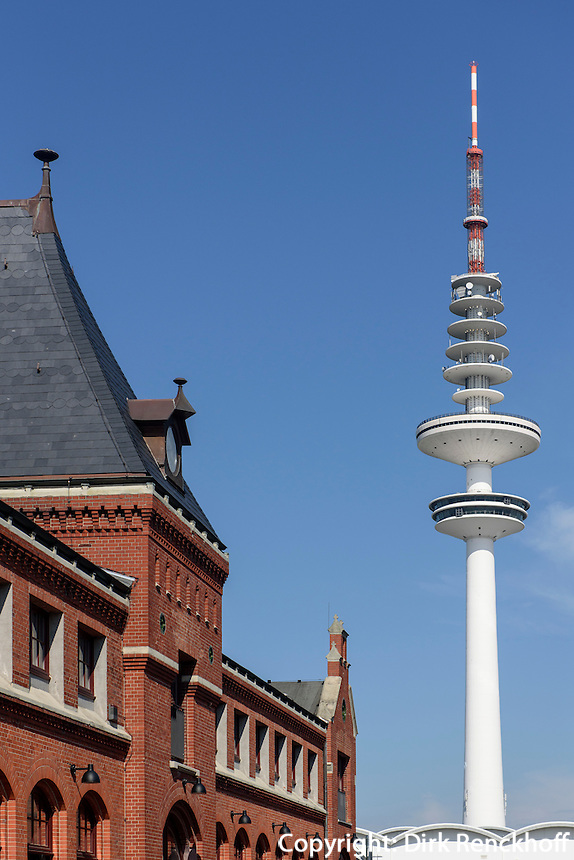 Schanzen-H&ouml;fe, Lagerstr.34 und Fernsehturm, Sternschanze, Hamburg-Altona, Deutschland<br /> Schanzen courts, Lagerstr.34  and tv-tower, Schanzenviertel, Hamburg-Altona,  Germany