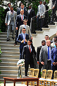 Members of the New York Giants arrive for the ceremony where United States President Barack Obama honored the Super Bowl Champions to the White House in Washington, D.C. on Friday, June 8, 2012..Credit: Ron Sachs / CNP.(RESTRICTION: NO New York or New Jersey Newspapers or newspapers within a 75 mile radius of New York City)