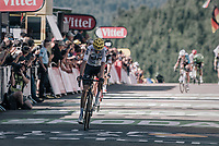 Chris Froome (GBR/SKY) riding over the line in 3rd &amp; becoming the new GC leader<br /> <br /> 104th Tour de France 2017<br /> Stage 5 - Vittel &rsaquo; La Planche des Belles Filles (160km)