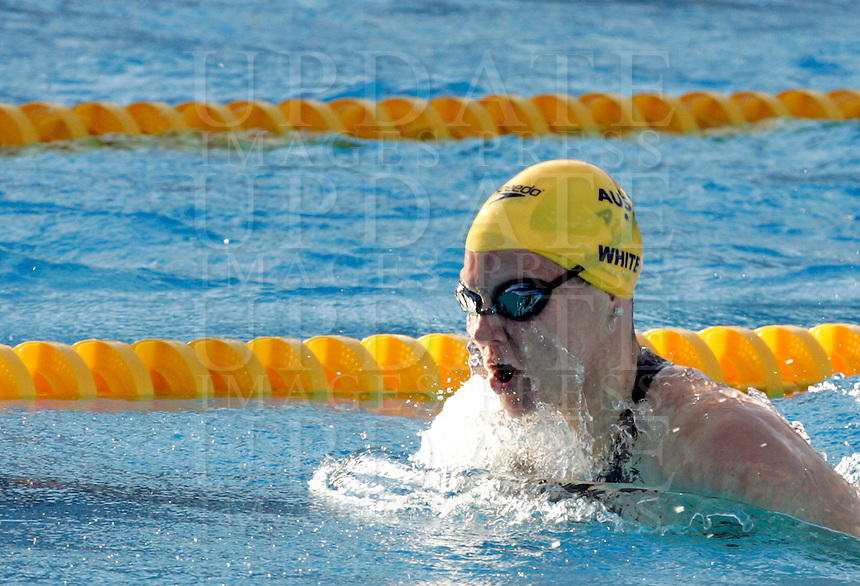 Australia's Tarnee White swims during a women's 100 meters breaststroke semifinal at the Swimming World Championships in Rome, 27 July 2009..UPDATE IMAGES PRESS/Riccardo De Luca