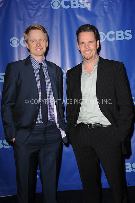 WWW.ACEPIXS.COM . . . . . .May 18, 2011...New York City....David Hornsby and Kevin Dillon  attend 2011 CBS Upfront Presentation Damrosch Park, Lincoln Center May 18, 2011 in New York City....Please byline: KRISTIN CALLAHAN - ACEPIXS.COM.. . . . . . ..Ace Pictures, Inc: ..tel: (212) 243 8787 or (646) 769 0430..e-mail: info@acepixs.com..web: http://www.acepixs.com .