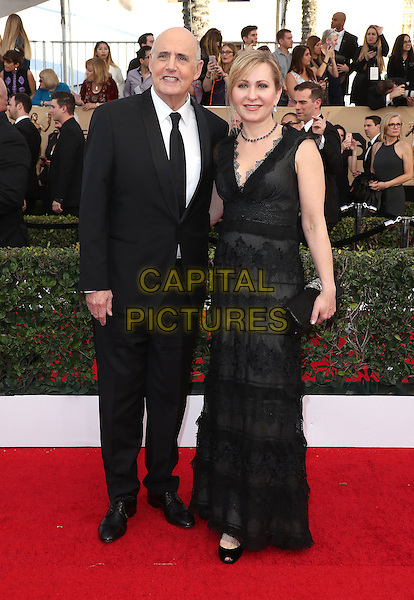 29 January 2017 - Los Angeles, California - Kasia Ostlun, Jeffrey Tambor. 23rd Annual Screen Actors Guild Awards held at The Shrine Expo Hall. <br /> CAP/ADM/FS<br /> &copy;FS/ADM/Capital Pictures