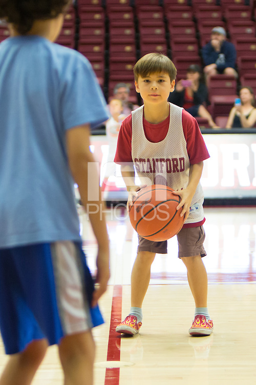 Stanford, CA - October 25, 2015:  Clinic after the Cardinal vs. White scrimmage at Maples Pavilion.