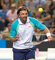 GORAN IVANISEVIC (CRO) & PAT CASH (AUS) against .MANSOUR BAHRAMI (IRI) CEDRIC PIOLINE (FRA) in the Legends Doubles. ..21/01/2012, 21st January 2012, 21.01.2012..The Australian Open, Melbourne Park, Melbourne,Victoria, Australia.@AMN IMAGES, Frey, Advantage Media Network, 30, Cleveland Street, London, W1T 4JD .Tel - +44 208 947 0100..email - mfrey@advantagemedianet.com..www.amnimages.photoshelter.com.