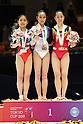 (L to R) Yu Minobe (JPN), Huang Qiushuang (CHN), Kim Bui (GER), November 26, 2011 - Artistic Gymnastics : FIG Artistic Gymnastics World Cup, Tokyo Cup 2011 Women's Individual All-round Medal Ceremony at Ryogoku-kokugikan, Tokyo, Japan. (Photo by Daiju Kitamura/AFLO SPORT) [1045]