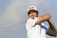 Julien Quesne (FRA) tees off the 10th tee during Thursday's Round 1 of the 2016 Portugal Masters held at the Oceanico Victoria Golf Course, Vilamoura, Algarve, Portugal. 19th October 2016.<br /> Picture: Eoin Clarke | Golffile<br /> <br /> <br /> All photos usage must carry mandatory copyright credit (&copy; Golffile | Eoin Clarke)