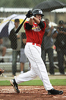 Dylan White, #26 of Sarasota High School, Florida playing for the Cardinals Scout Team during the WWBA World Champsionship 2012 at the Roger Dean Complex on October 25, 2012 in Jupiter, Florida. (Stacy Jo Grant/Four Seam Images)..
