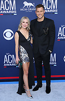 07 April 2019 - Las Vegas, NV - Cassie Randolph, Colton Underwood. 54th Annual ACM Awards Arrivals at MGM Grand Garden Arena. Photo Credit: MJT/AdMedia<br /> CAP/ADM/MJT<br /> &copy; MJT/ADM/Capital Pictures