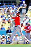 24 July 2011: Washington Nationals outfielder Rick Ankiel in action against the Los Angeles Dodgers at Dodger Stadium in Los Angeles, California. The Dodgers defeated the Nationals 3-1 to take the rubber match of their three game series. Mandatory Credit: Ed Wolfstein Photo