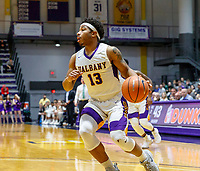 University at Albany men's basketball defeats Binghamton University 71-54  at the  SEFCU Arena, Feb. 27, 2018. David Nichols (#13). (Bruce Dudek / Cal Sport Media/Eclipse Sportswire)
