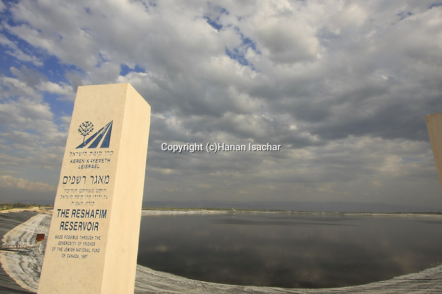 Israel, Beth Shean valley. Reshafim water reservoir