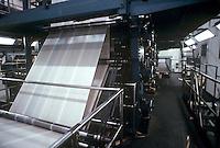 Newspaper printing operation.