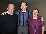 Ciaran Collier Holdcroft celebrating his 21st birthday in the Boyne Valley hotel with grandparents PJ and Rita Collier. Photo: Colin Bell/pressphotos.ie