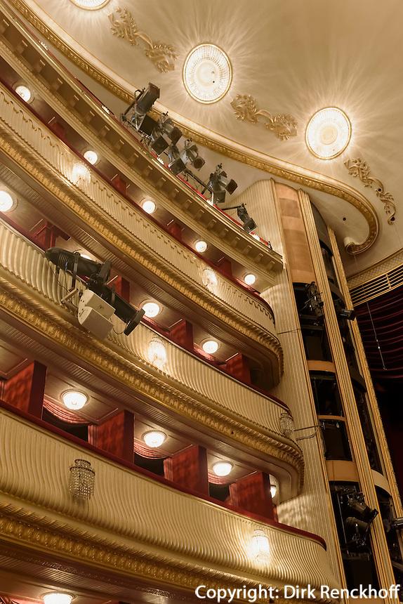 Logenpl&auml;tze im Burgtheateram Universit&auml;tsring  in Wien, &Ouml;sterreich, UNESCO-Weltkulturerbe<br /> box seats and, Burgtheater, Vienna, Austria, world heritage