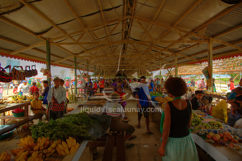 "A colorful market with lots of fruits, vegetables and fish, and of course everyone's favorite here-betelnut at Alotau. Alotau is the capital of Milne Bay Province, a province of Papua New Guinea..The town is located within the area in which the invading Japanese army suffered their first land defeat in the Pacific War in 1942, before the Kokoda Track battle. A memorial park at the old battle site commemorates the event..Alotau became the provincial capital in 1969 after it was shifted from Samarai..Alotau is the gateway to the Milne Bay Province which contains some of the most remote island communities in the world. Renowned for its friendly people and amazing tropical islands, it is a very well kept secret and sees very few tourists each year. The whole of Milne bay offers some of the worlds best scuba diving and coral reef experiences..Alotau itself is a busy regional ""Outpost""-like town. Most facilities are available here although it can be sporadic at times.."