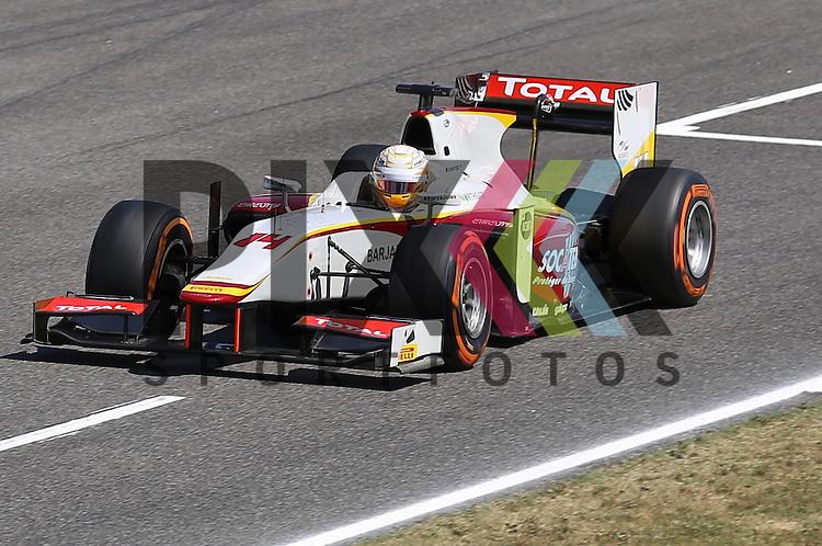 Barcelona, 08.05.15, Motorsport, GP2 Series Barcelona 2015 : Arthur Pic (Campos Racing, #14)<br /> <br /> Foto &copy; P-I-X.org *** Foto ist honorarpflichtig! *** Auf Anfrage in hoeherer Qualitaet/Aufloesung. Belegexemplar erbeten. Veroeffentlichung ausschliesslich fuer journalistisch-publizistische Zwecke. For editorial use only.