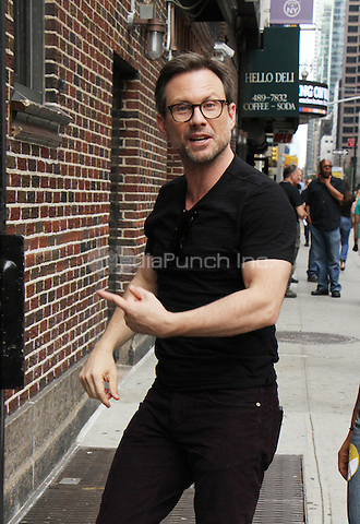 NEW YORK, NY-August 31: Christian Slater at The Late Show with Stephen Colbert  to talk about current  season of USA Network series Mr. Robot in New York. August 31, 2016. Credit:RW/MediaPunch