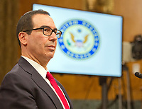 "United States Secretary of the Treasury Steven T. Mnuchin, gives testimony before the US Senate Committee on The Budget ""on the Presidentís FY 18 Budget and Revenue Proposals Featuring Treasury"" on Capitol Hill in Washington, DC on Tuesday, June 13, 2017. Photo Credit: Ron Sachs/CNP/AdMedia"