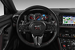 Car pictures of steering wheel view of a 2018 Nissan GT-R Track Edition 5 Door Coupe