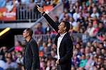FC Barcelona's coach Luis Enrique Martinez during the La Liga match between Futbol Club Barcelona and Deportivo de la Coruna at Camp Nou Stadium Spain. October 15, 2016. (ALTERPHOTOS/Rodrigo Jimenez)