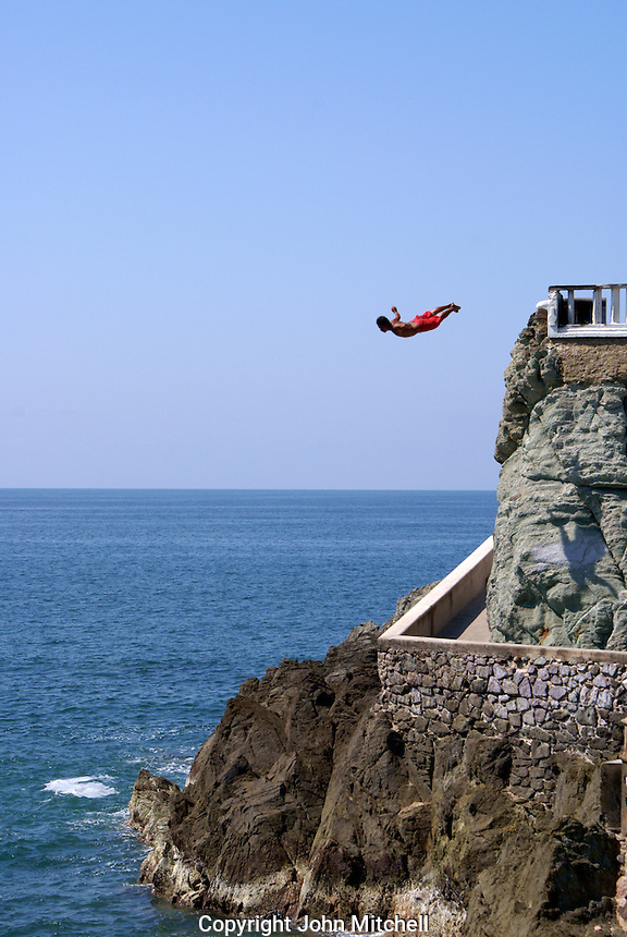 Cliff diver at Clavadista in Mazatlan, Sinaloa, Mexico