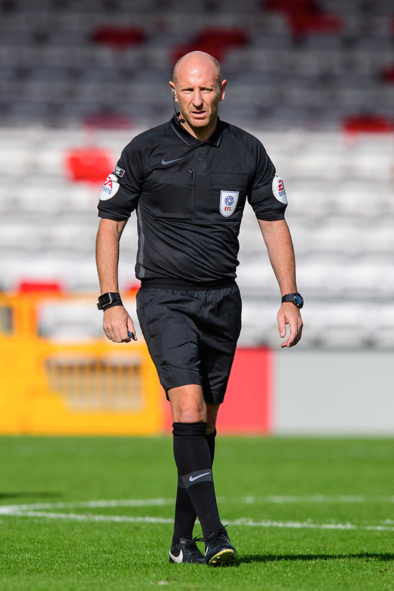 Referee Andy Davies<br /> <br /> Photographer Chris Vaughan/CameraSport<br /> <br /> The EFL Sky Bet League One - Saturday 12th September 2020 - Lincoln City v Oxford United - LNER Stadium - Lincoln<br /> <br /> World Copyright © 2020 CameraSport. All rights reserved. 43 Linden Ave. Countesthorpe. Leicester. England. LE8 5PG - Tel: +44 (0) 116 277 4147 - admin@camerasport.com - www.camerasport.com - Lincoln City v Oxford United