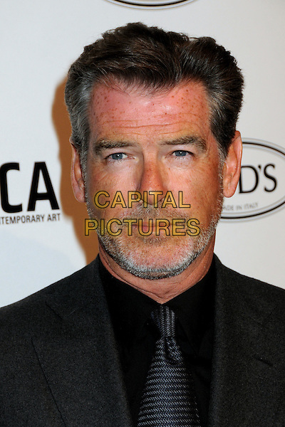 PIERCE BROSNAN.TOD's Beverly Hills Boutique Launch Celebration held at TOD's Boutique, Beverly Hills, California, USA, .15th April 2010..portrait headshot beard facial hair grey gray tie black shirt .CAP/ADM/BP.©Byron Purvis/AdMedia/Capital Pictures.