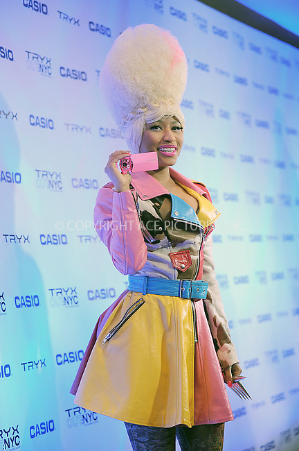 WWW.ACEPIXS.COM . . . . . .April 7, 2011...New York City...CASIO Launches New Grounbreaking Tryx Camera with Special Performance by Nicki Minaj Best Buy Theatre In Time Square on April 7, 2011 in New York City....Please byline: KRISTIN CALLAHAN - ACEPIXS.COM.. . . . . . ..Ace Pictures, Inc: ..tel: (212) 243 8787 or (646) 769 0430..e-mail: info@acepixs.com..web: http://www.acepixs.com .