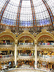 Galeries Lafayette, famous department store in Paris, France
