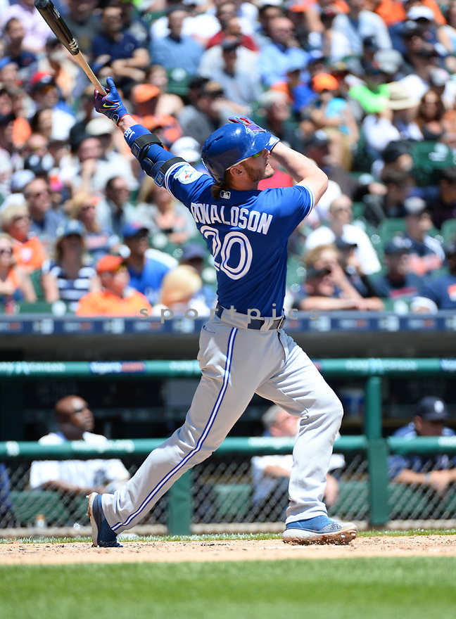 Toronto Blue Jays Josh Donaldson (20) during a game against the Detroit Tigers on June 8, 2016 at Comerica Park in Detroit MI. The Blue Jays beat the Tigers 7-2.
