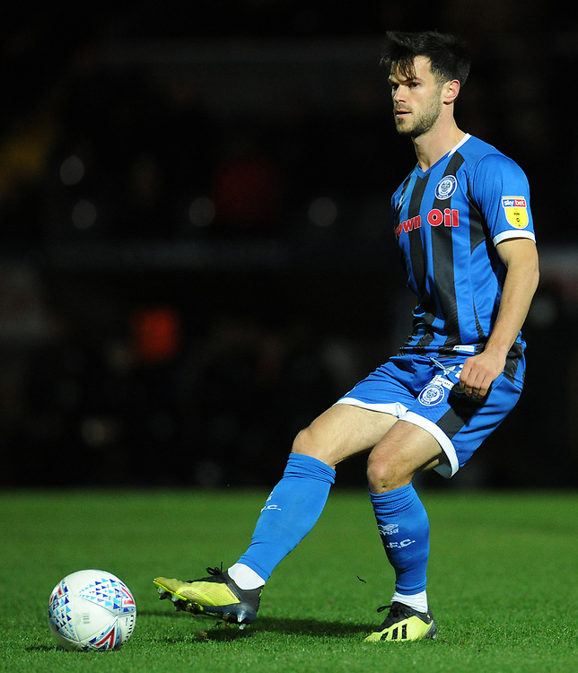 Rochdale's Jimmy Keohane<br /> <br /> Photographer Kevin Barnes/CameraSport<br /> <br /> EFL Leasing.com Trophy - Northern Section - Group F - Rochdale v Bolton Wanderers - Tuesday 1st October 2019  - University of Bolton Stadium - Bolton<br />  <br /> World Copyright © 2018 CameraSport. All rights reserved. 43 Linden Ave. Countesthorpe. Leicester. England. LE8 5PG - Tel: +44 (0) 116 277 4147 - admin@camerasport.com - www.camerasport.com