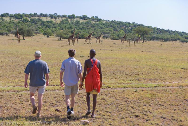 Walking tour on the Masai Mara, Kenya, Africa