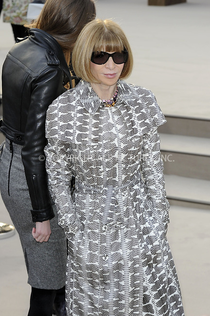 WWW.ACEPIXS.COM....US Sales Only....February 18 2013, London....Anna Wintour at the Burberry Prorsum a/w 2013 show during London Fashion Week in Hyde Park on February 18 2013 in London....By Line: Famous/ACE Pictures......ACE Pictures, Inc...tel: 646 769 0430..Email: info@acepixs.com..www.acepixs.com