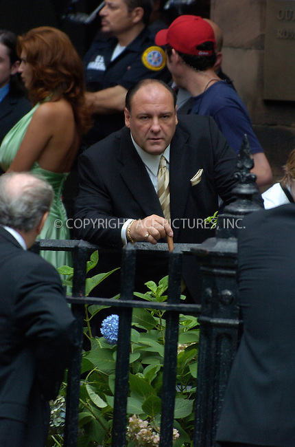 WWW.ACEPIXS.COM . . . . .***EXCLUSIVE!!! FEE MUST BE NEGOTIATED BEFORE USE!!!***......NEW YORK, JULY 28, 2005....The cast of The Sopranos assembled to shoot scenes for the upcoming season. Many of the regular cast were present for this scene at Our Lady of Victory Roman Catholic Church.....Please byline: Philip Vaughan -- ACE PICTURES.... *** ***..Ace Pictures, Inc:  ..Craig Ashby (212) 243-8787..e-mail: picturedesk@acepixs.com..web: http://www.acepixs.com