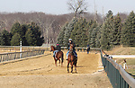 The training track at Overbrook Farm in Colts Neck, New Jersey.