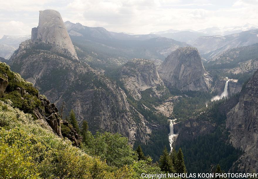 Half Dome, Nevada and Vernal Falls, Yosemite - 2011