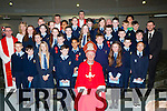 Pupils from St Olivers with Bishop Ray Browne, and teachers Mercy Clifford, Josephine Doncel, and Noel O'Sullivan after they made their Confirmation in the Church of the Ressurection on Friday