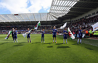 Pictured:<br /> Saturday 04 May 2013<br /> Re: Barclay's Premier League, Swansea City FC v Manchester City at the Liberty Stadium, south Wales.