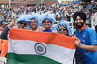 Crazy hair and the colours of India during India vs Australia, ICC World Cup Cricket at The Oval on 9th June 2019