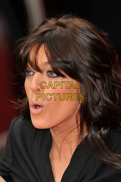 CLAUDIA WINKLEMAN .Red Carpet Arrivals for the British Academy Television Awards 2008, held at the London Palladium, London, England, April 20th 2008. .BAFTA BAFTA's portrait headshot funny face.CAP/PL.©Phil Loftus/Capital Pictures