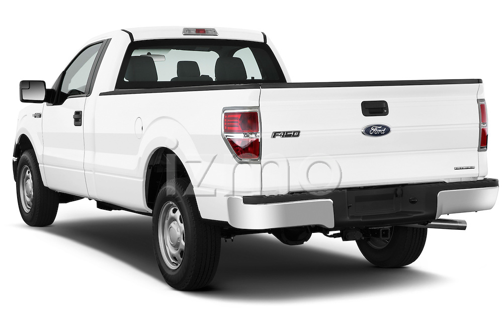 Rear three quarter view of a 2013 Ford F150 XL Reg Cab