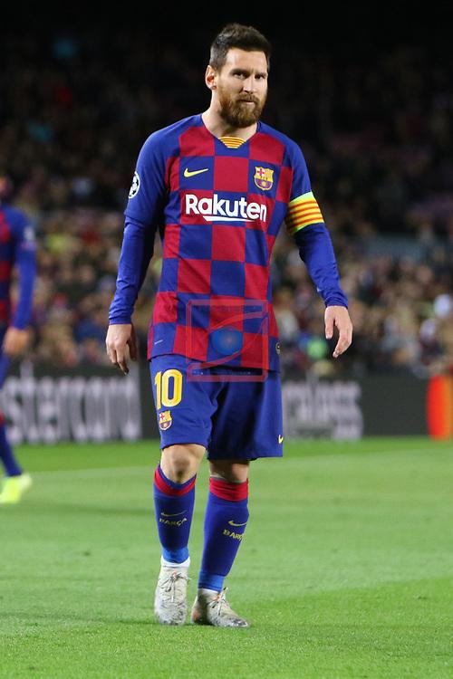 UEFA Champions League 2019/2020.<br /> Matchday 4.<br /> FC Barcelona vs SK Slavia Praha: 0-0.<br /> Lionel Messi.